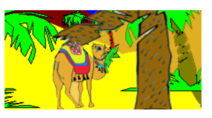 cuento dromi el camellito de Melchor - lleva una hoja de palma