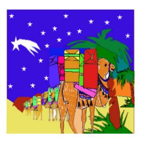 cuento dromi el camellito de Melchor - su papá marcha en la caravana