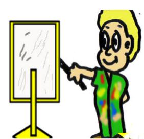 cuento: Adoquín - Miguel pintando