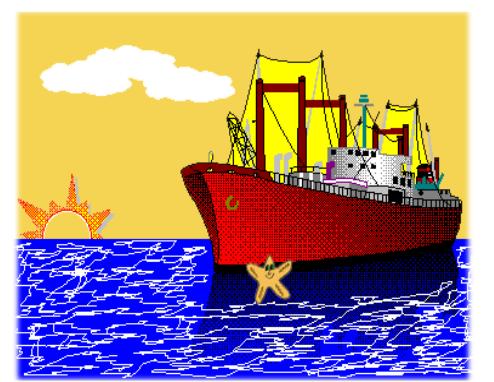 cuento: Rufi, una estrella de mar diferente - agarrada a un barco