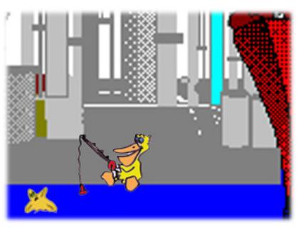 cuento: Rufi, una estrella de mar diferente - con el pelícano