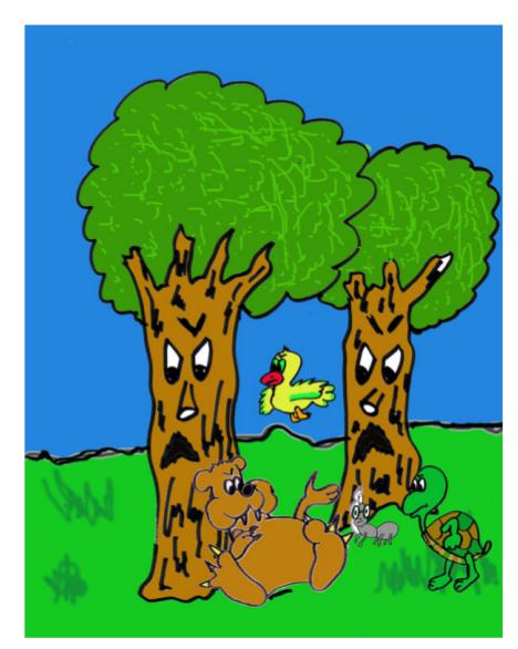 cuento: Pepo, el árbol bromista - reunión en el bosque