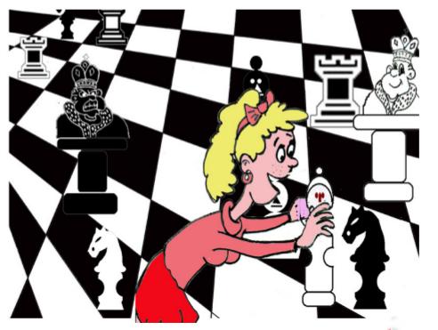 cuento: la batalla de ajedrez - come al caballo
