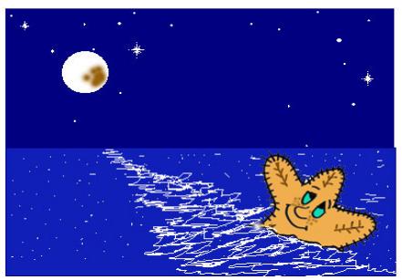 cuento: Rufi, una estrella de mar diferente - ve estrellas en el cielo